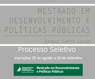 cartaz do mestrado com informações