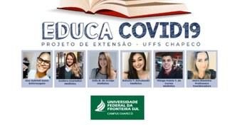 Imagem mostra a equipe do projeto e a marca da UFFS - Campus Chapecó