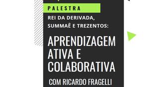 Imagem de parte do cartaz do evento, com informações escritas sobre o tema da palestra