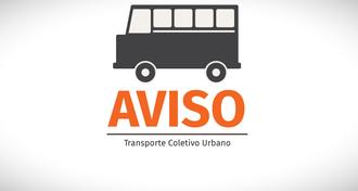Aviso transporte coletivo
