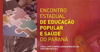 Ao lado esquerdo da figura imagens de peças de quebra-cabeça e mãos. Ao lado direito, em segundo plano, a imagem de um rosto em plano fechado, sobre a imagem o título e local do evento.