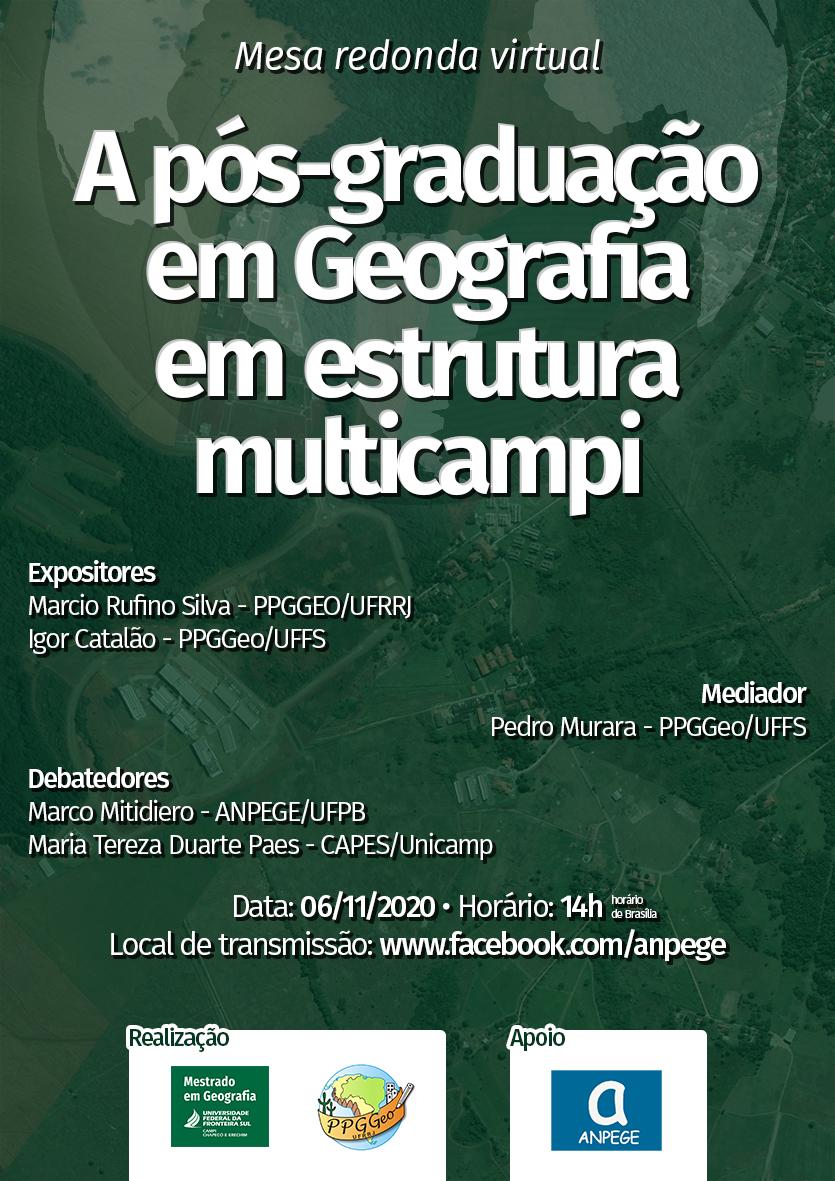 A pós-graduação em Geografia em estrutura multicampi
