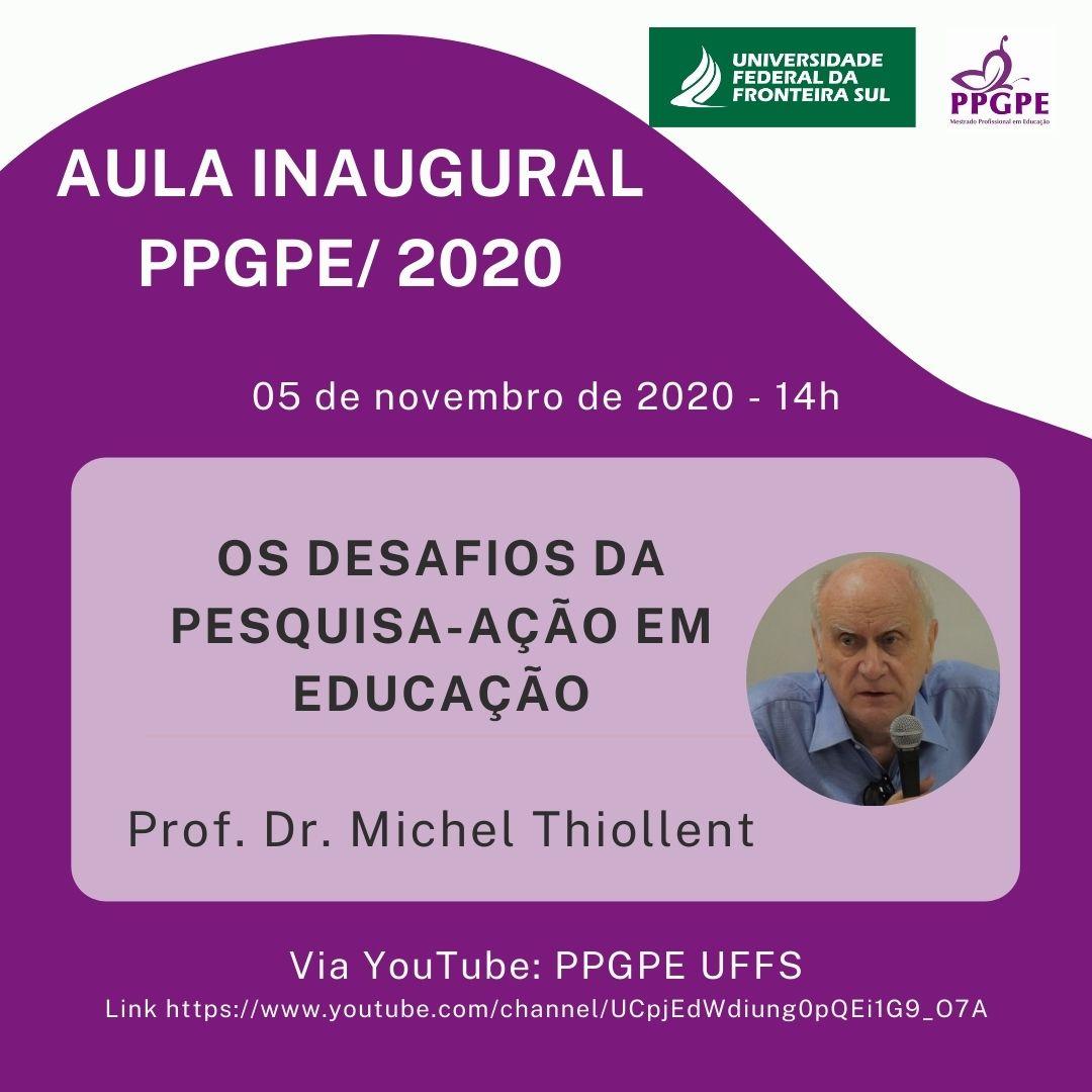Aula Inaugural PPGPE 2020