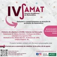 IV SAMAT - Semana Acadêmica de Matemática