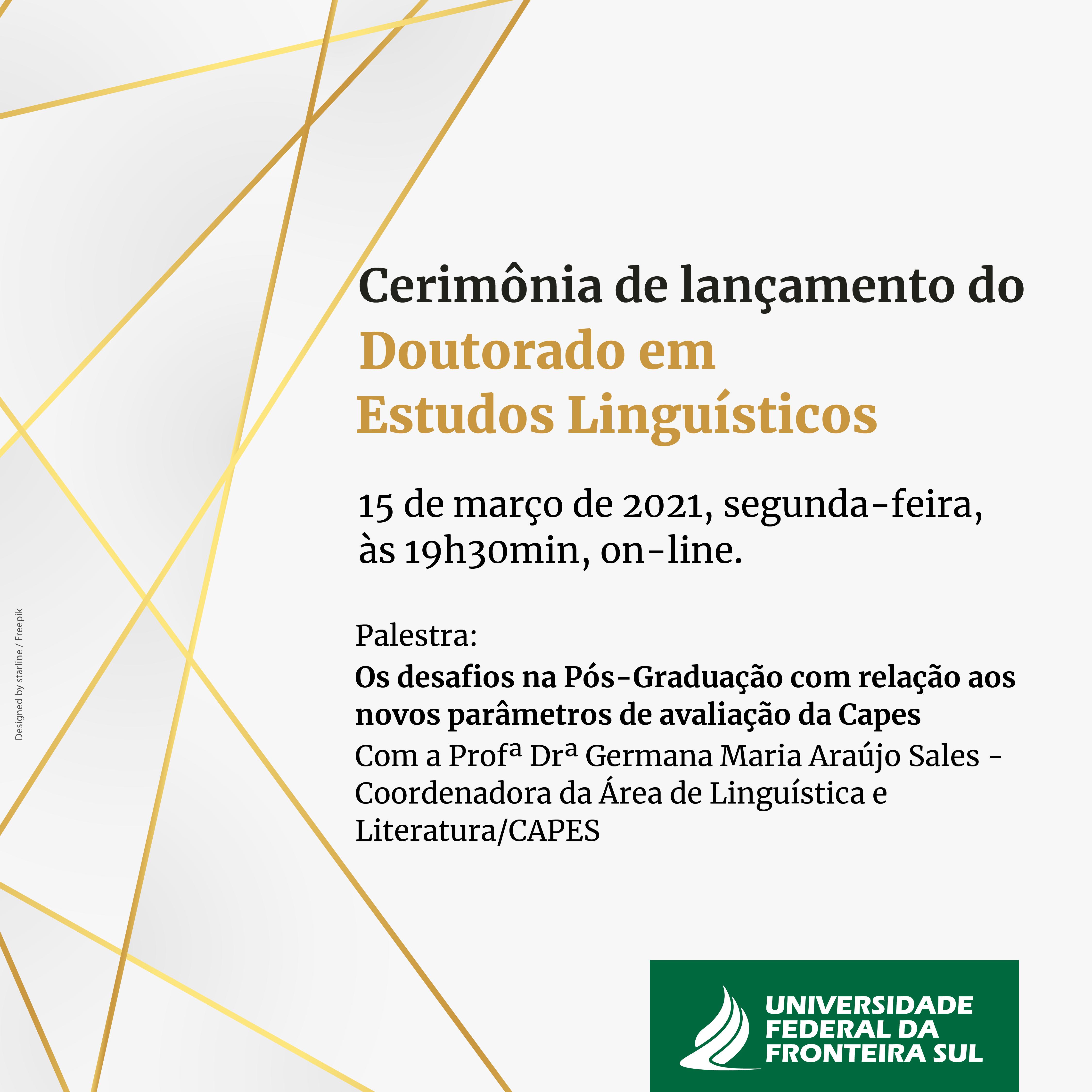 Lançamento do doutorado em Estudos Linguísticos