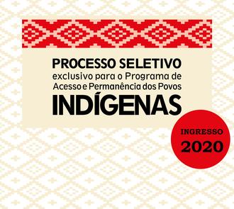 Cartaz com informações sobre processo seletivo PIN 2020