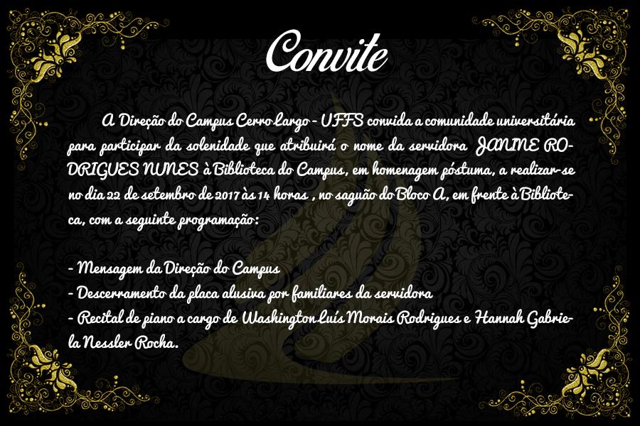 Homenagem póstuma à servidora Janine Rodrigues Nunes