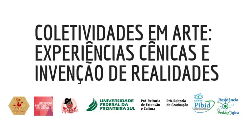 Cartaz com informações sobre o evento Coletividade em Arte