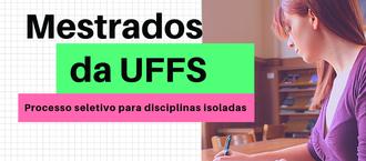 Cartaz com informações sobre inscrições em disciplinas isoladas dos mestrados