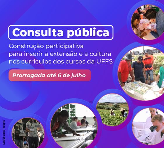 Cartaz com informações sobre prorrogação do prazo para participação em consulta pública