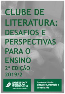 Cartaz com informações sobre o evento segunda edição do clube da literatura
