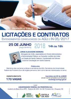 Cartaz com informações sobre palestra com advogado da União