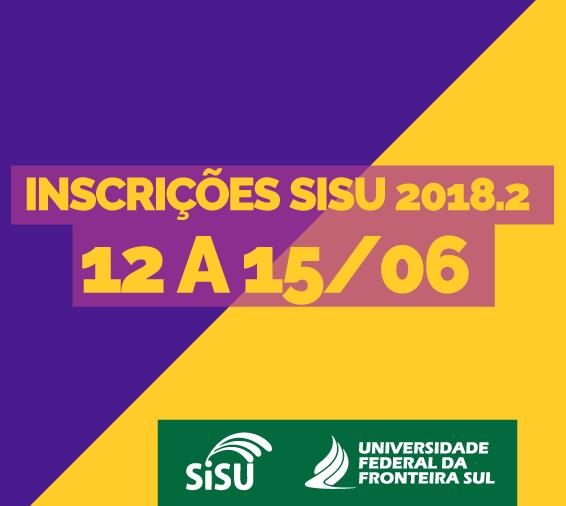 Cartaz sobre inscrições para vagas no semestre 2018.2