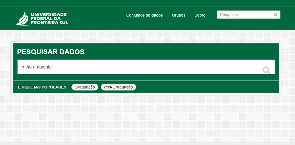 Print da tela do portal dados abertos da UFFS