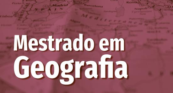 Cartaz com informações seleção mestrado geografia 2021.2
