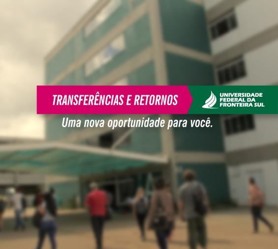 Processo seletivo transferências e retornos 2018.2