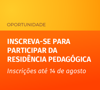 Cartaz com informações sobre vagas remanescentes no programa residência pedagógica